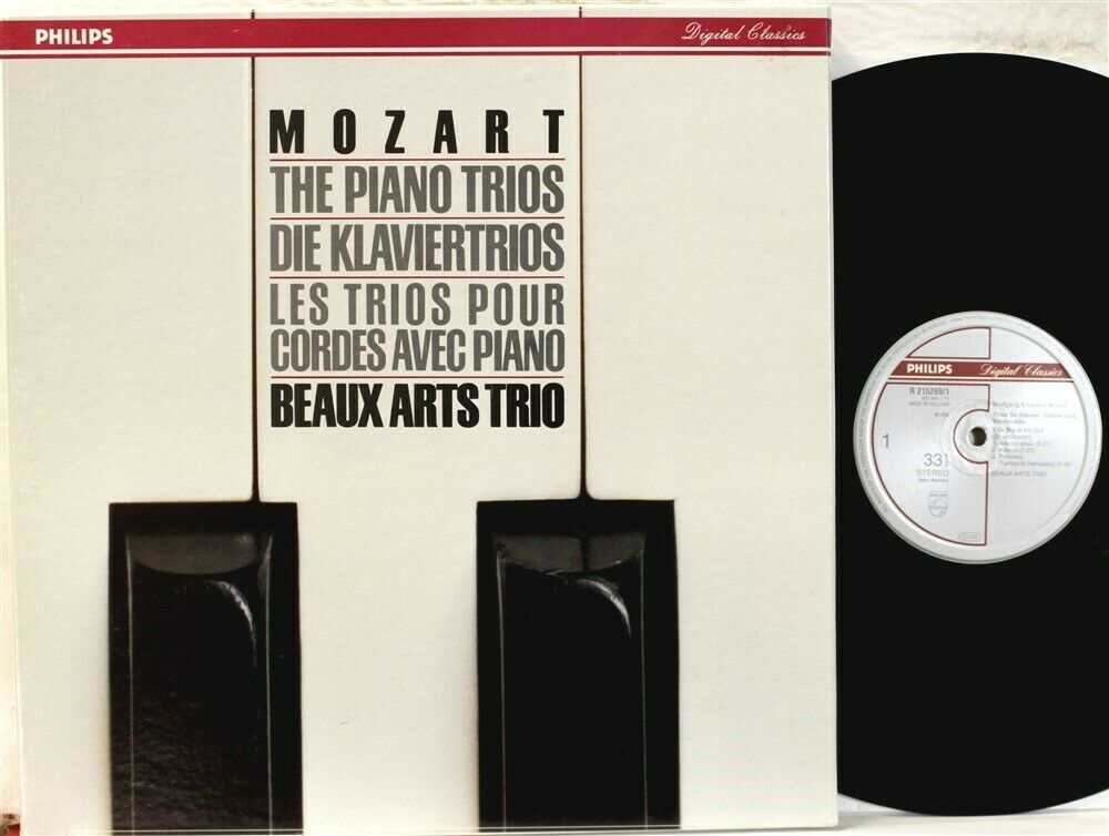 Philips R215269 Beaux Arts Trio, Mozart Piano Trios, 3 disc box set from 1987