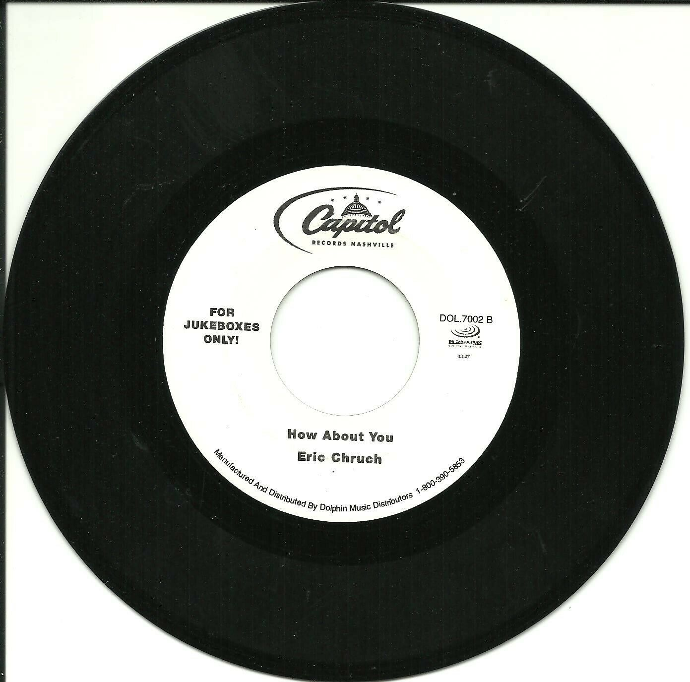 """Eric Church   """"How About You"""" - Hard-to-Find Jukebox 45 (b/w Chris Cagle hit)"""