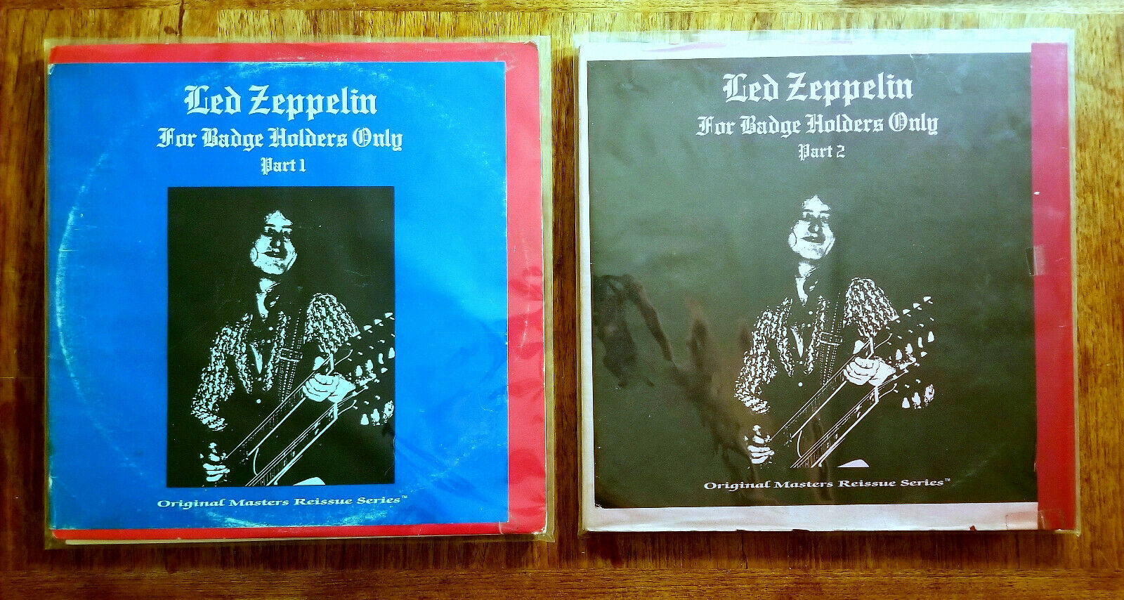 LED ZEPPELIN FOR BADGE HOLDERS ONLY PARTS 1 & 2 4XLP  LIVE BOOTLEG