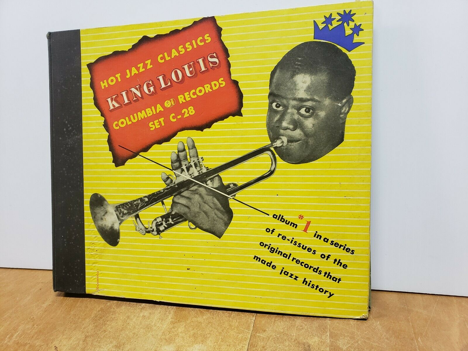 LOUIS ARMSTRONG HOT JAZZ CLASSICS KING LOUIS COLUMBIA RECORDS C-28(FC-41-1-K)