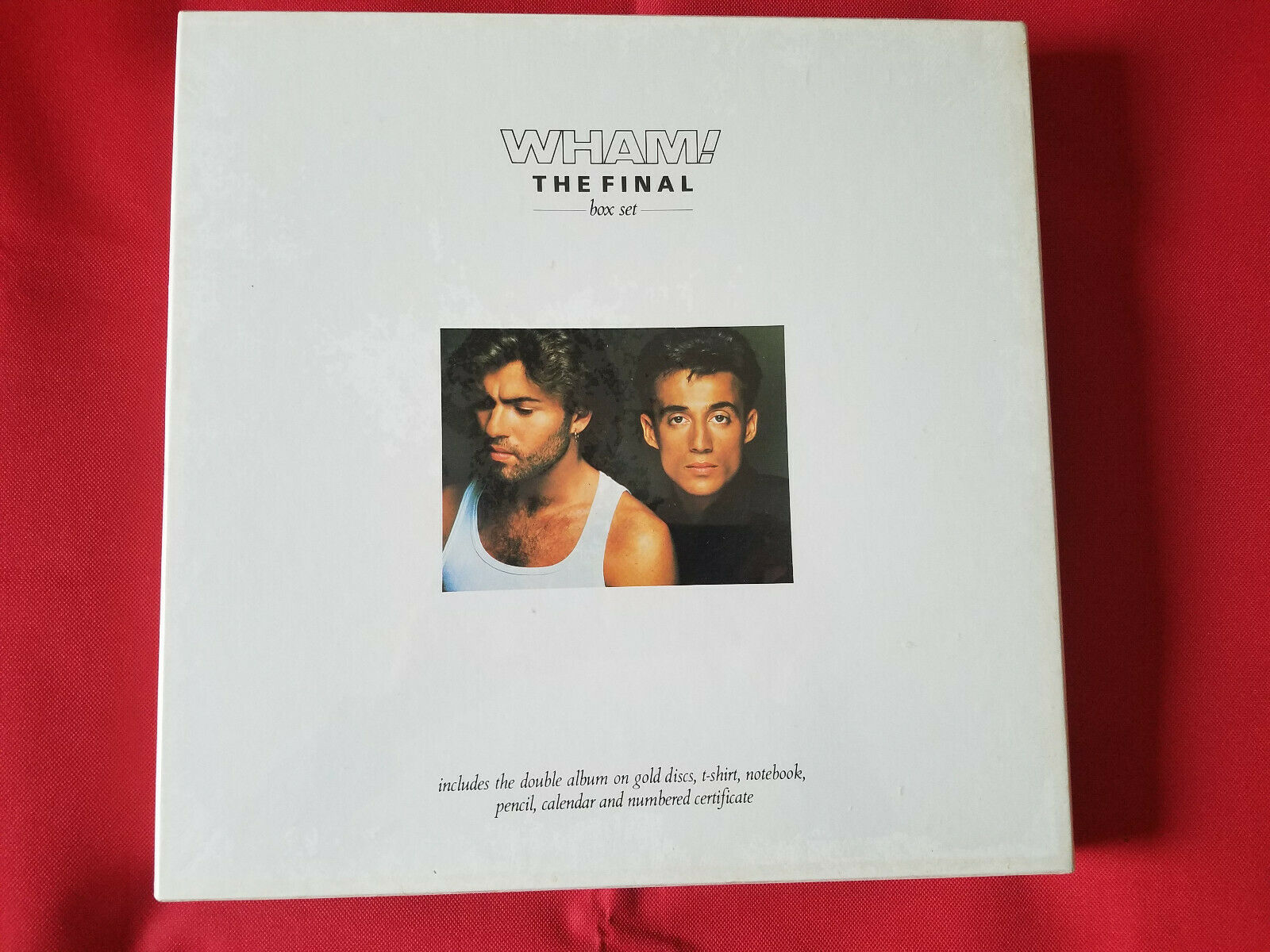 "WHAM ""THE FINAL"" S/S  Double GOLD VINYL record albums S/S box set FREE SHIPPING"