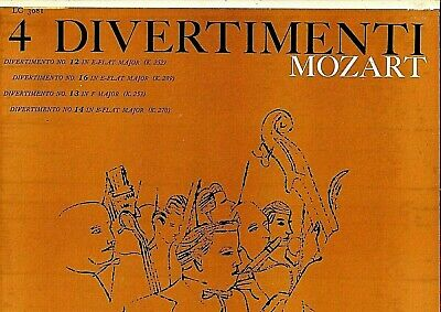 EPIC - ANDY WARHOL ART COVER - 1956 - MOZART DIVERTIMENTI - PAUMGARTNER