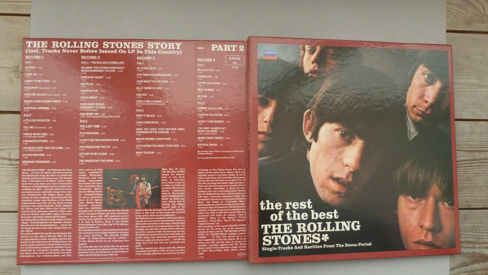 The Rolling Stones. 4LP Box. Story. Vol.2