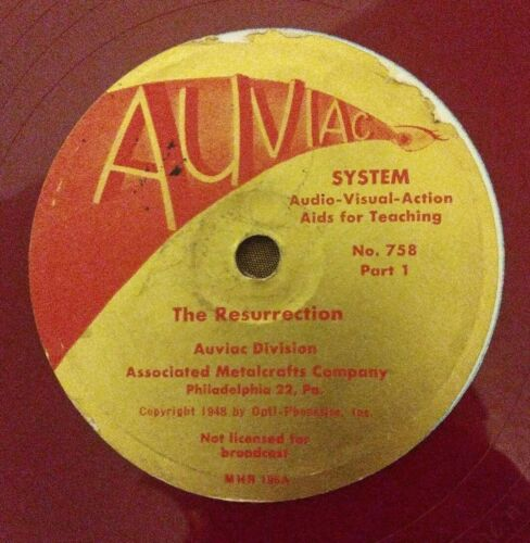 "RARE VINYL - ""The Resurrection"" AUVIAC Division - 12"" Red Vinyl Record-MHR196 G"