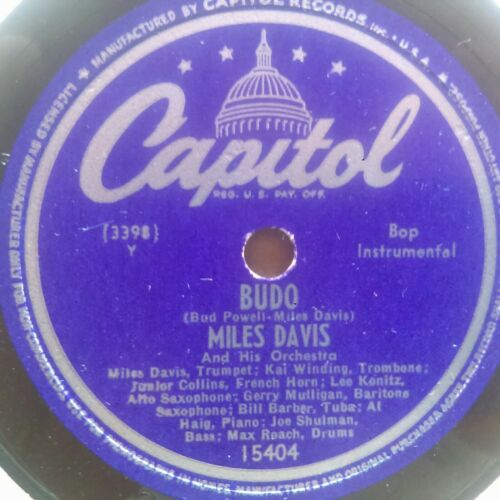 78 rpm Miles Davis Capitol 15404 Budo/Move  all-star bop E