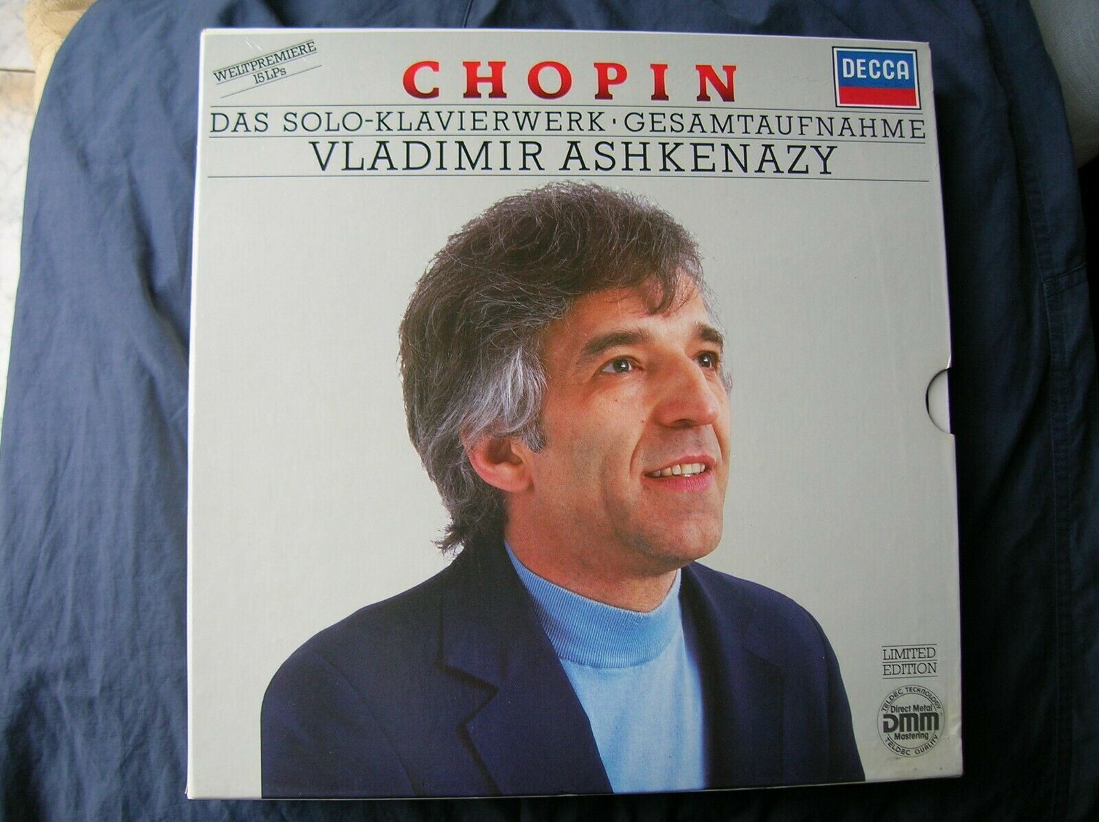 CHOPIN COMPLETE SOLO PIANO WORKS & LIEDER ASHKENAZY 16 LP box DECCA MINT
