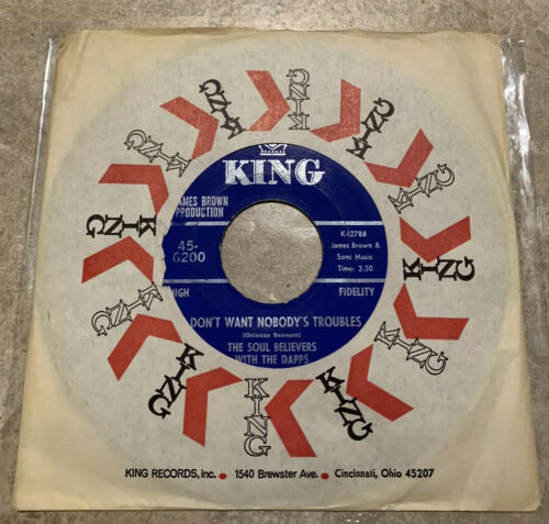 The Soul Believers With The Daps 45-6200 King K-12788  James Brown Production