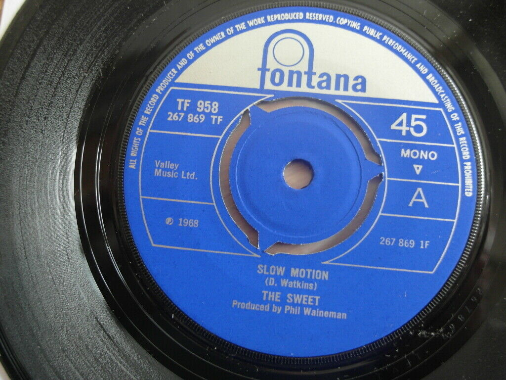 """THE SWEET: """"Slow Motion"""" Huge '68 Psych Freakbeat Glam Holy Grail Mint"""