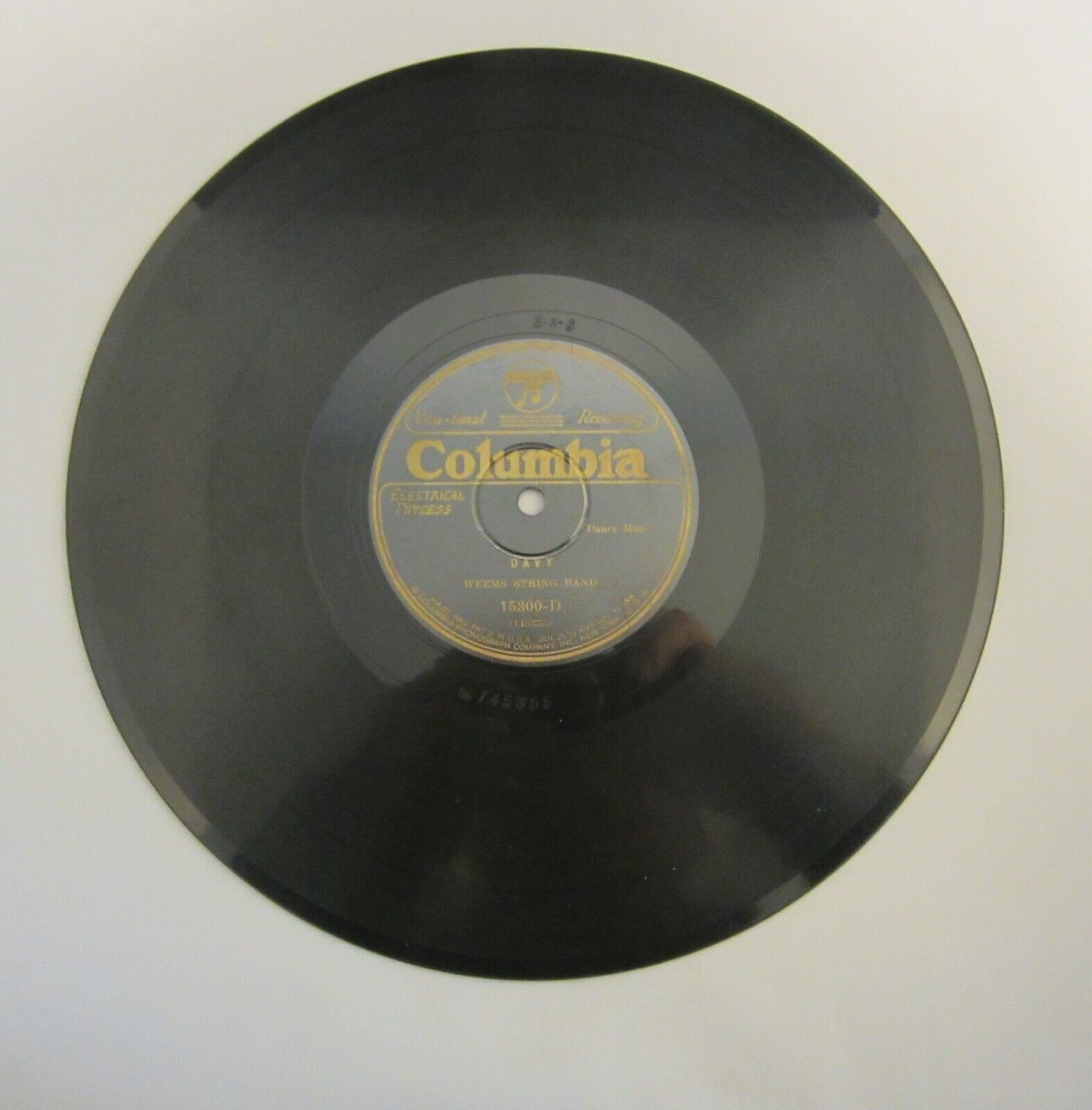 Weems String Band 78 CO-15300 masterpiece in Excellent condition