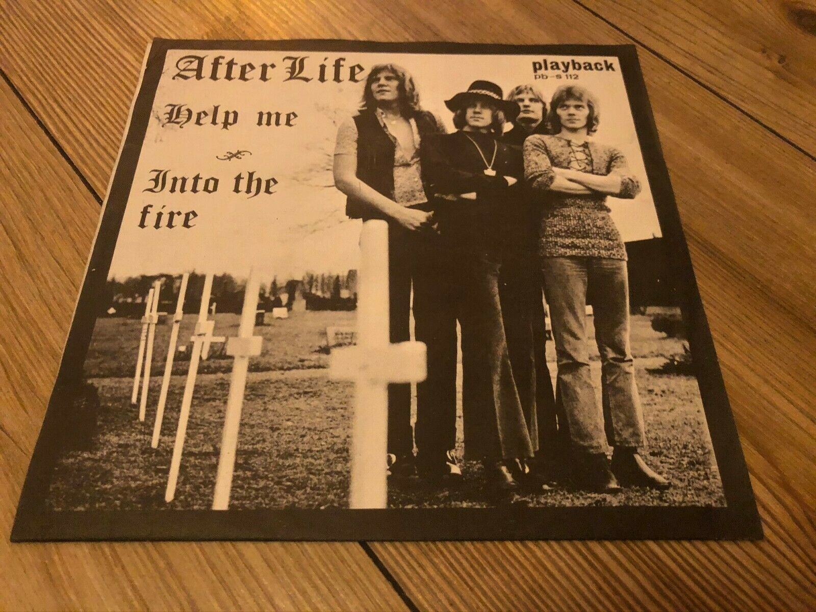 AFTER LIFE help me / into the fire RARE BONEHEAD HARD ROCK PSYCH SWEDEN 45