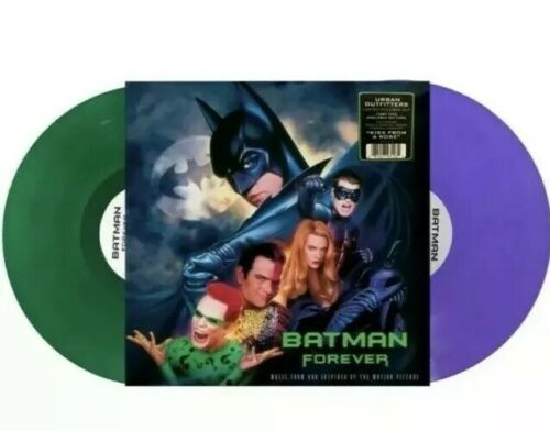 Batman Forever Vinyl Soundtrack 2LP Purple/ Green Coloured RARE