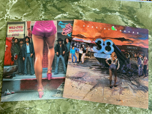 2 LP's 38 Special Wild Eyed Southern Boys (MISPRINT) & Special Forces - VG+/NM
