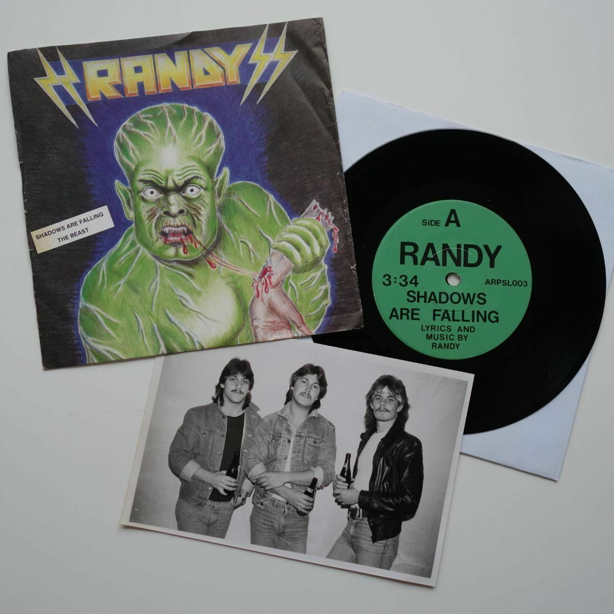 "RANDY The Beast / Shadows Are Falling  danish metal 7"" nwobhm Denmark"