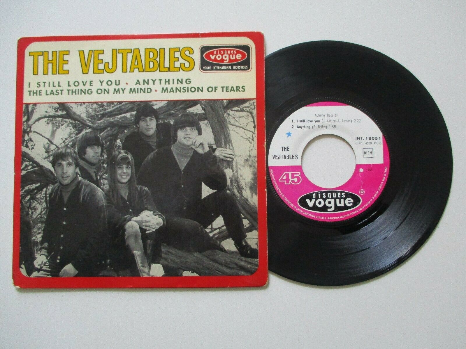 HYPER  RARE  45 T EP SIXTIES  THE VEJTABLES