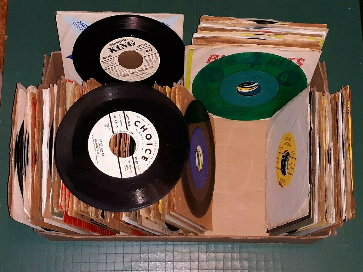 Box of Early Country Hillbilly/Boppers 45's Records ARTISTS 100+ No Reserve