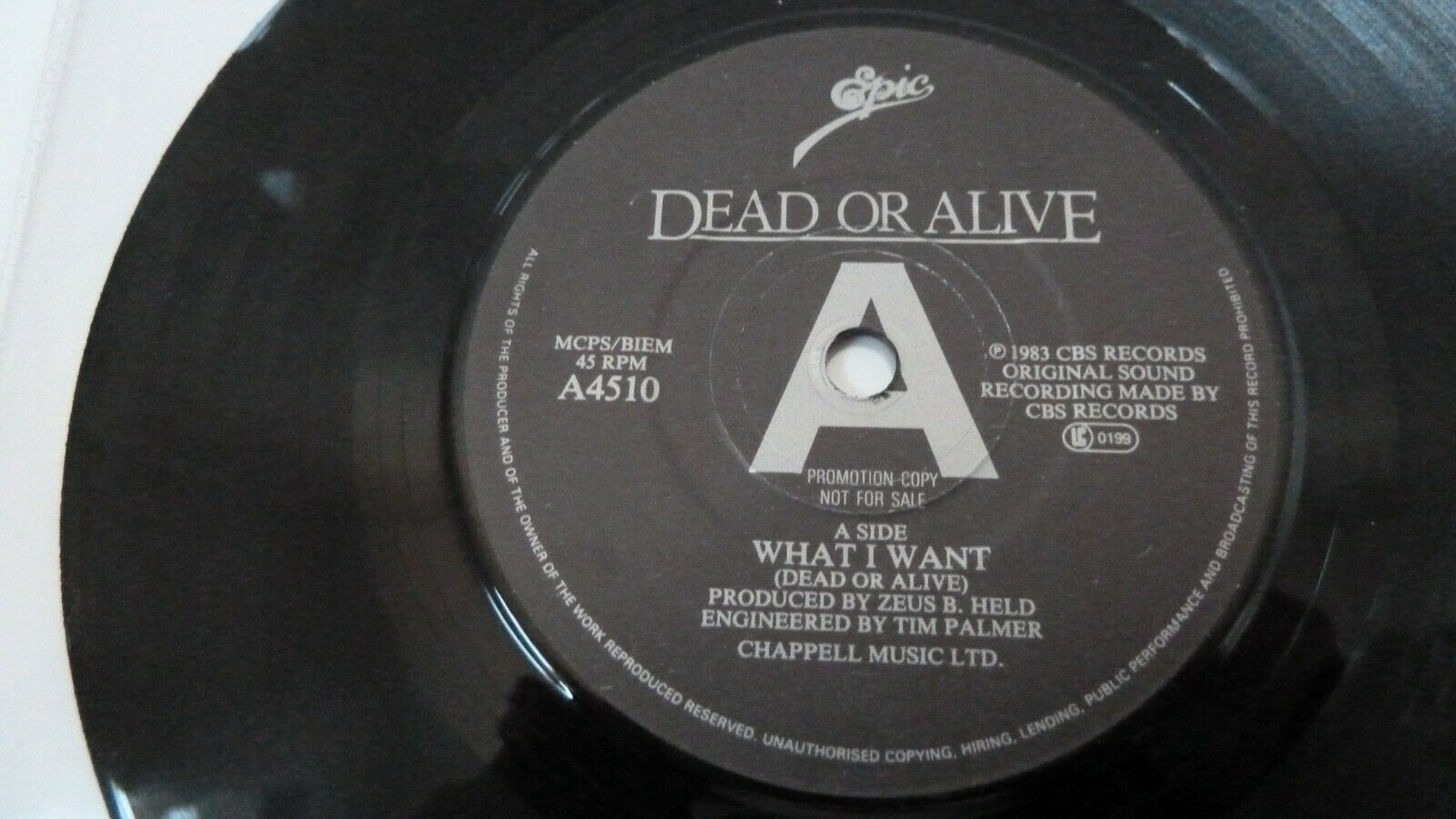Dead Or Alive Something In My House Japanese 7 vinyl