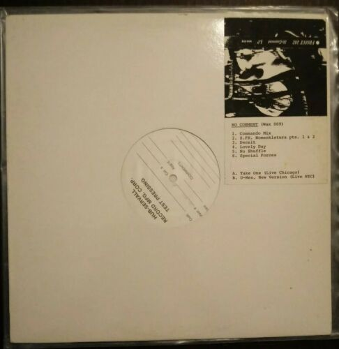 Front 242 No Comment LP Test Pressing Wax Trax  Industrial Accident Ministry TKK