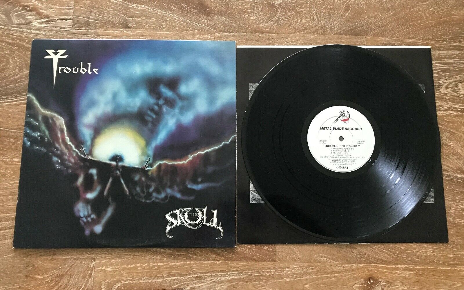 Trouble The Skull Metal Blade Records Vinyl With Insert