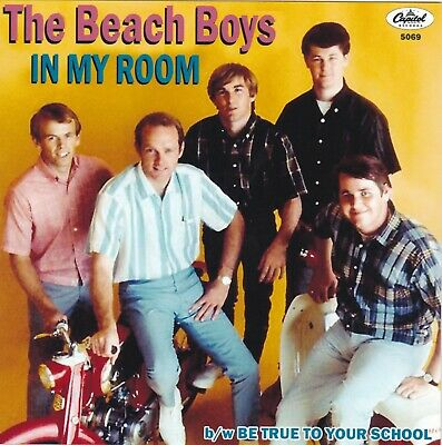 """Beach Boys """"In My Room"""" & """"Be True To Your School"""" Record & Custom Picture Slv"""