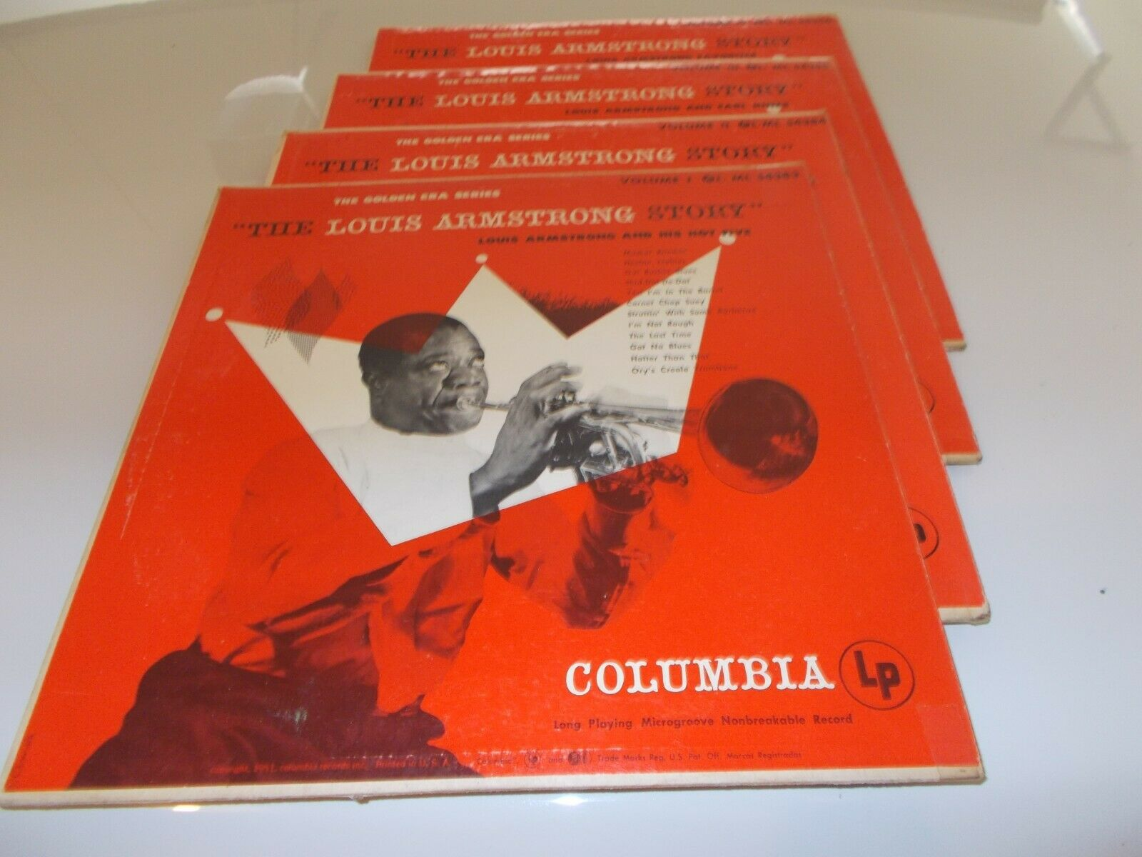 """""""THE LOUIS ARMSTRONG STORY"""" Album - (Volumes 1, 2, 3 and 4)"""