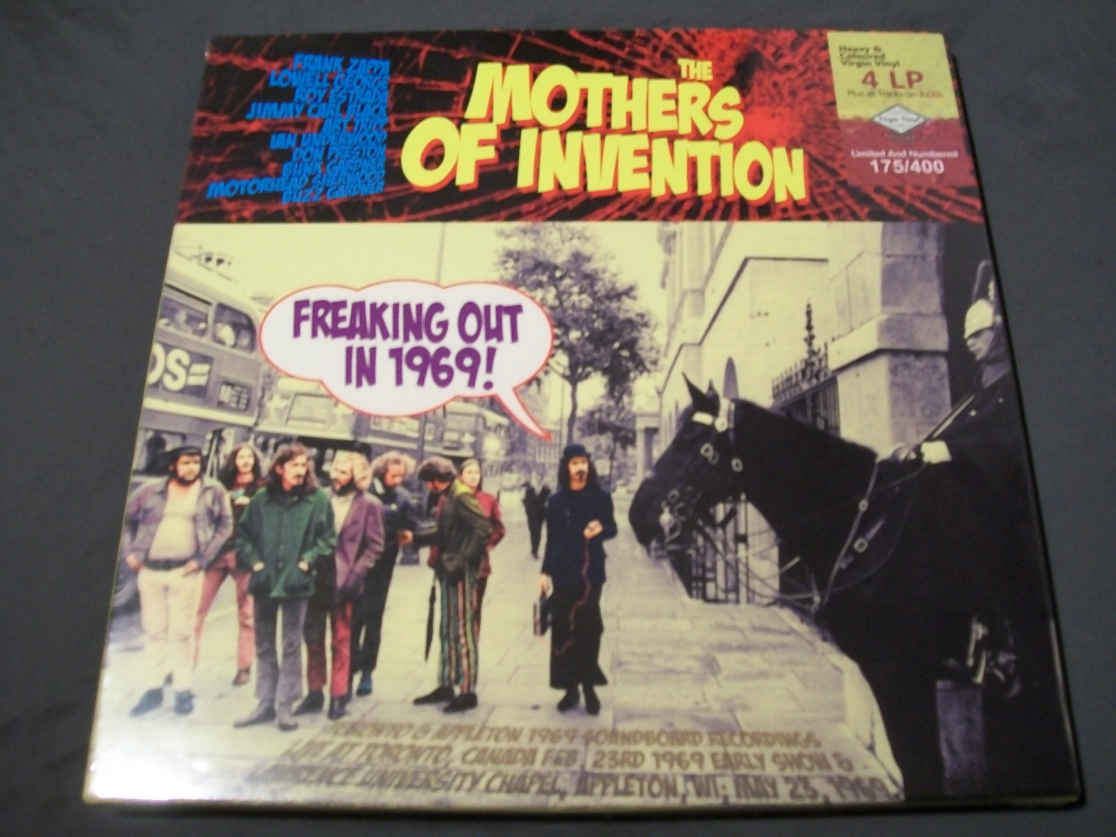 """FRANK ZAPPA/MOTHERS OF INVENTION """"Freaking Out In 1969"""" LP CD BOX SET SEALED"""