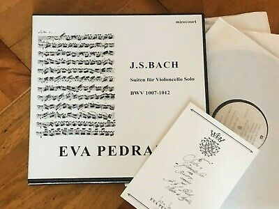 EVA PEDRAZZI BACH 6 CELLO SUITES MIRECOURT SIGNED NUMBERED 92/300 LP BOX SWISS