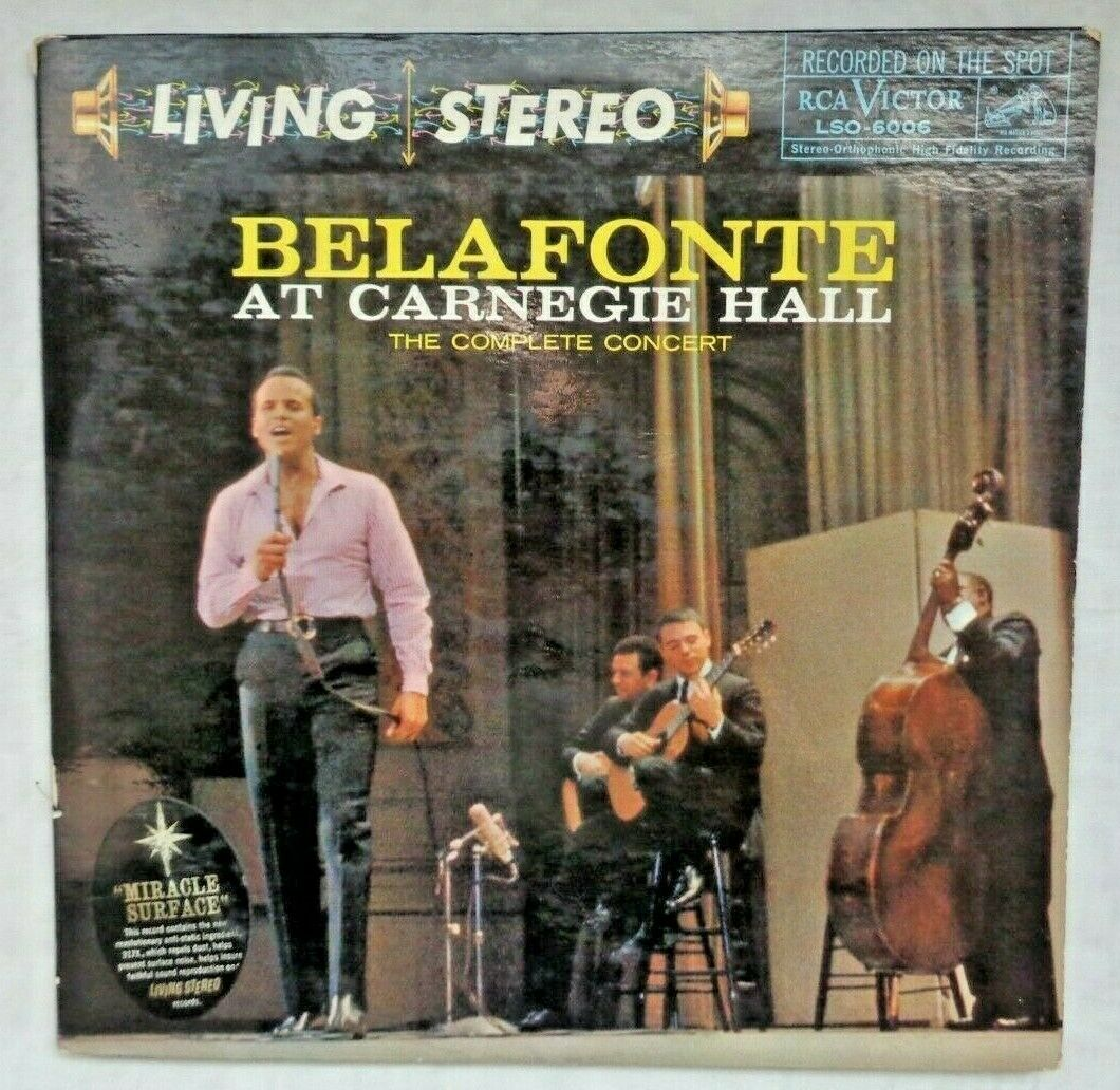 Belafonte At Carnegie Hall: 1959 LSO-6006 Indianapolis 1-S/1-S/1-S/1-S Press VG+