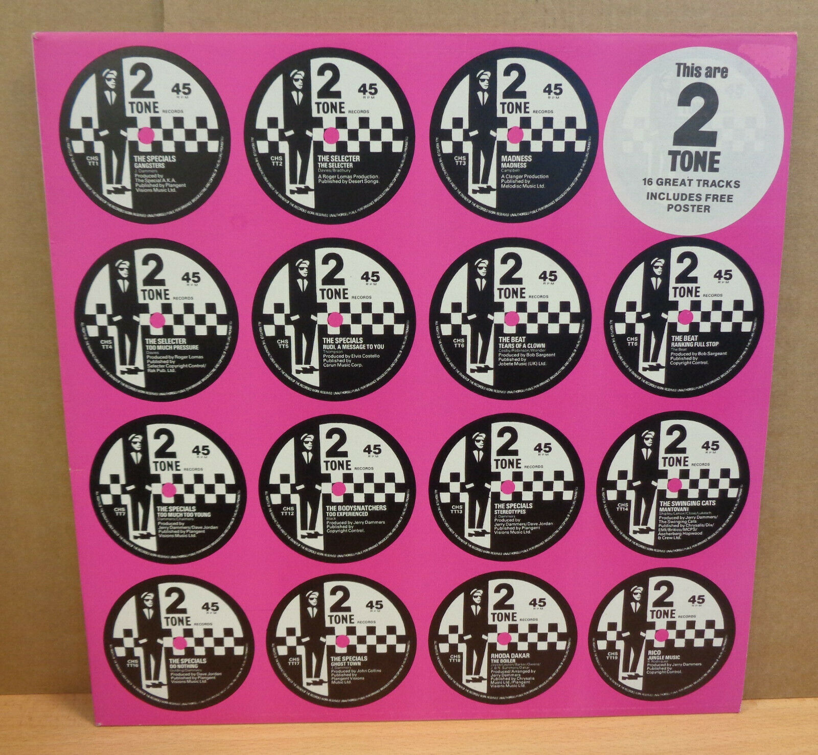 2 TONE THIS ARE TWO TONE UK TWO TONE RECORDS LP CHRTT5007 PINK COVER POSTER MINT