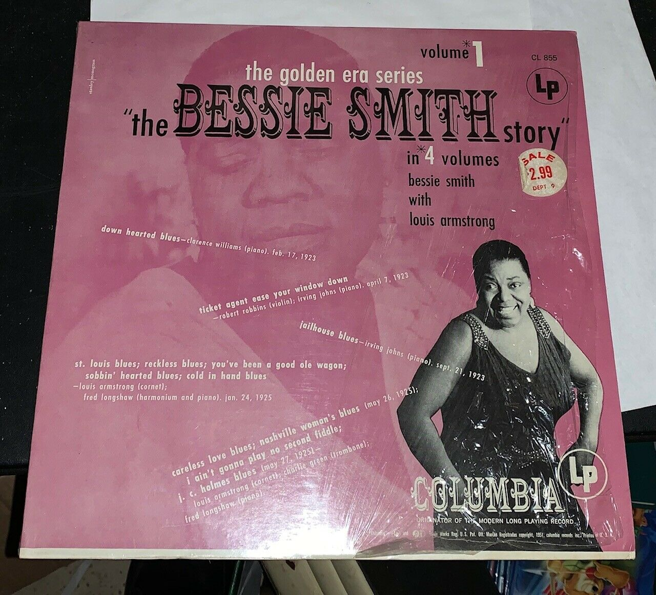 The Bessie Smith Story - Vol.1 2 3 4 Columbia Rare Blues Louis Armstrong