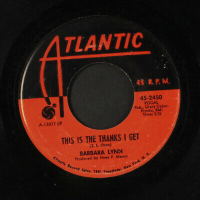 BARBARA LYNN: This Is The Thanks I Get / Ring Telephone Ring 45 Soul