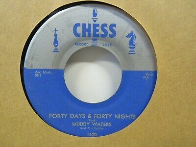 """Muddy Waters-Forty Days & Forty Nights/All Aboard-Blues-7""""45RPM"""
