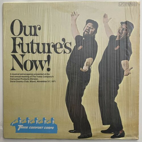 INDUSTRIAL MUSICAL Trane Company - Our Future's Now  LP vinyl record 1971 RARE
