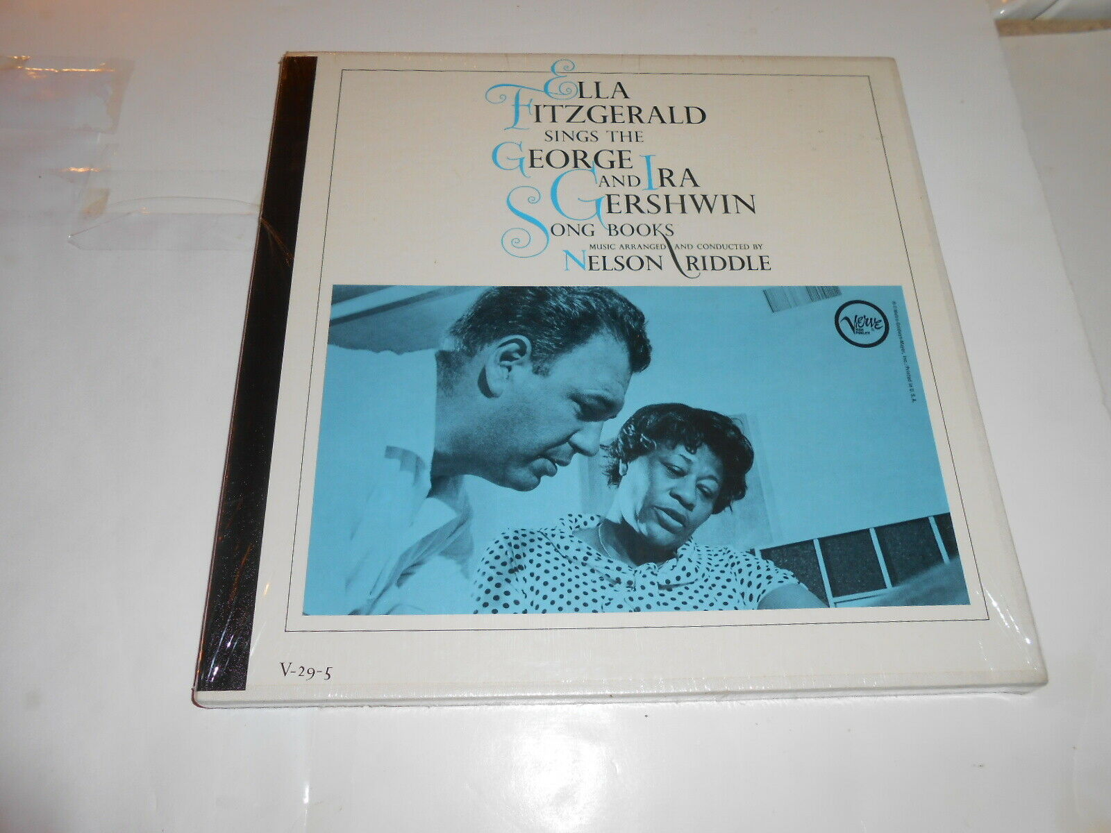 RARE SEALED :ELLA FITZGERGERALD  SINGS THE GEORGE  AND IRA GERSHWIN  SONGBOOK -