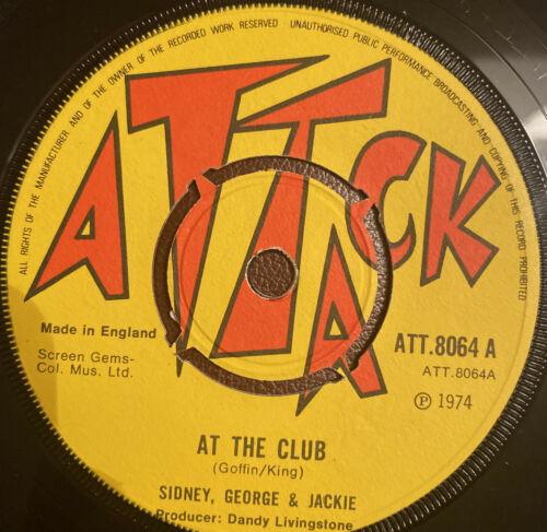 SIDNEY GEORGE JACKIE PIONEERS At The Club Reggae Fever ATTACK ATT8064 1974 M-