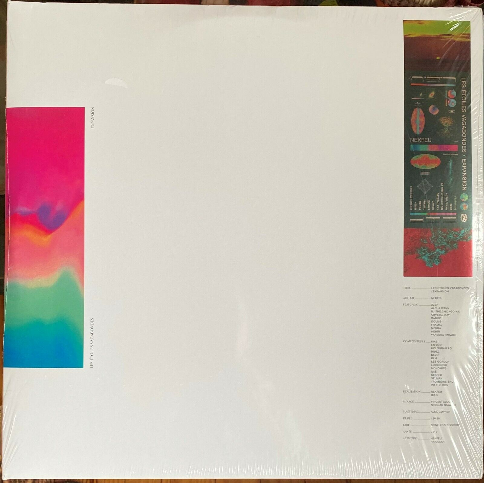 Nekfeu - Les étoiles vagabondes - Quadruple Album Vinyle Noir - Edition Limitée