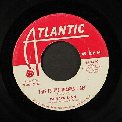 "BARBARA LYNN: this is the thanks i get / ring telephone ring ATLANTIC 7"" Single"