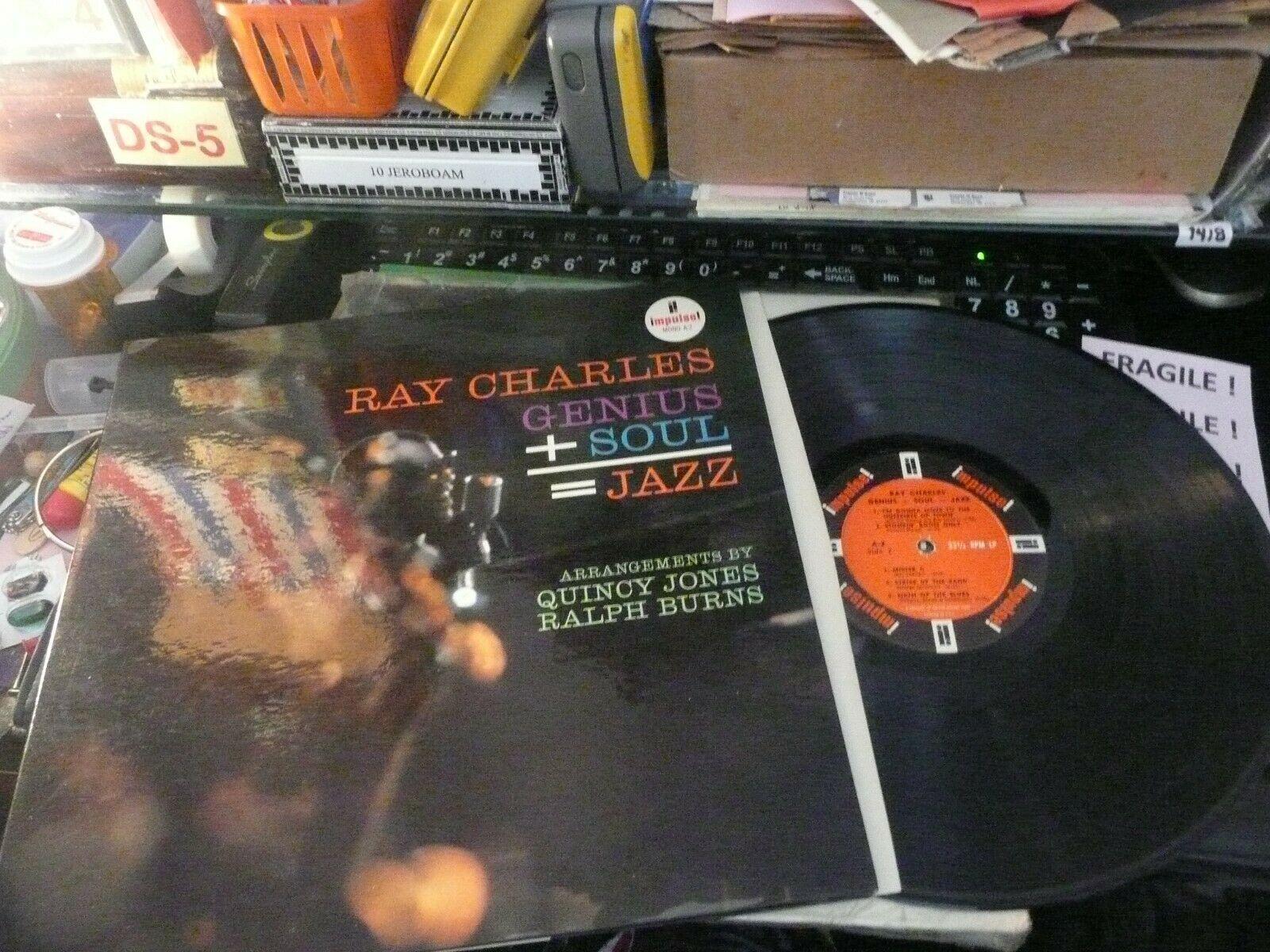 record LP R&B Ray Charles Mono   Genius + Soul =Jazz  on Impulse NM- top Copy