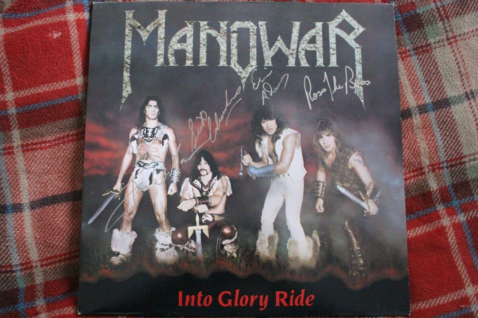 "Manowar - Into Glory Ride (SIGNED Scarce 7 TRK 12"" Vinyl Album)"
