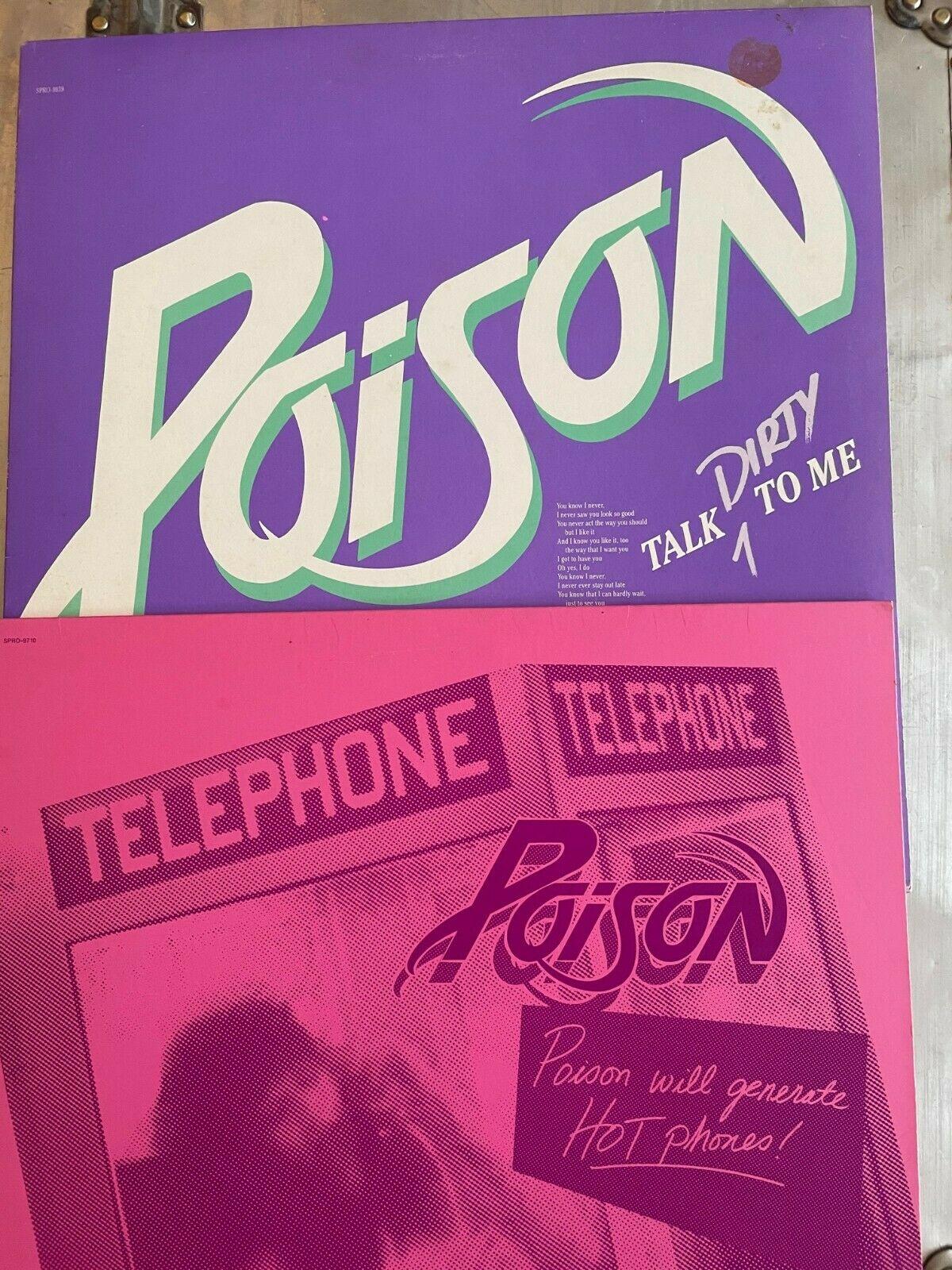 POISON - Talk Dirty to Me & Cry Tough PROMO 12' Vinyl LP NM 1st Press OOP