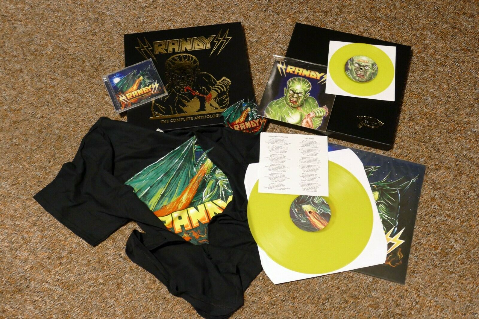 RANDY the complete anthology BOX Set lim 100 shadows are falling the beast Vinyl