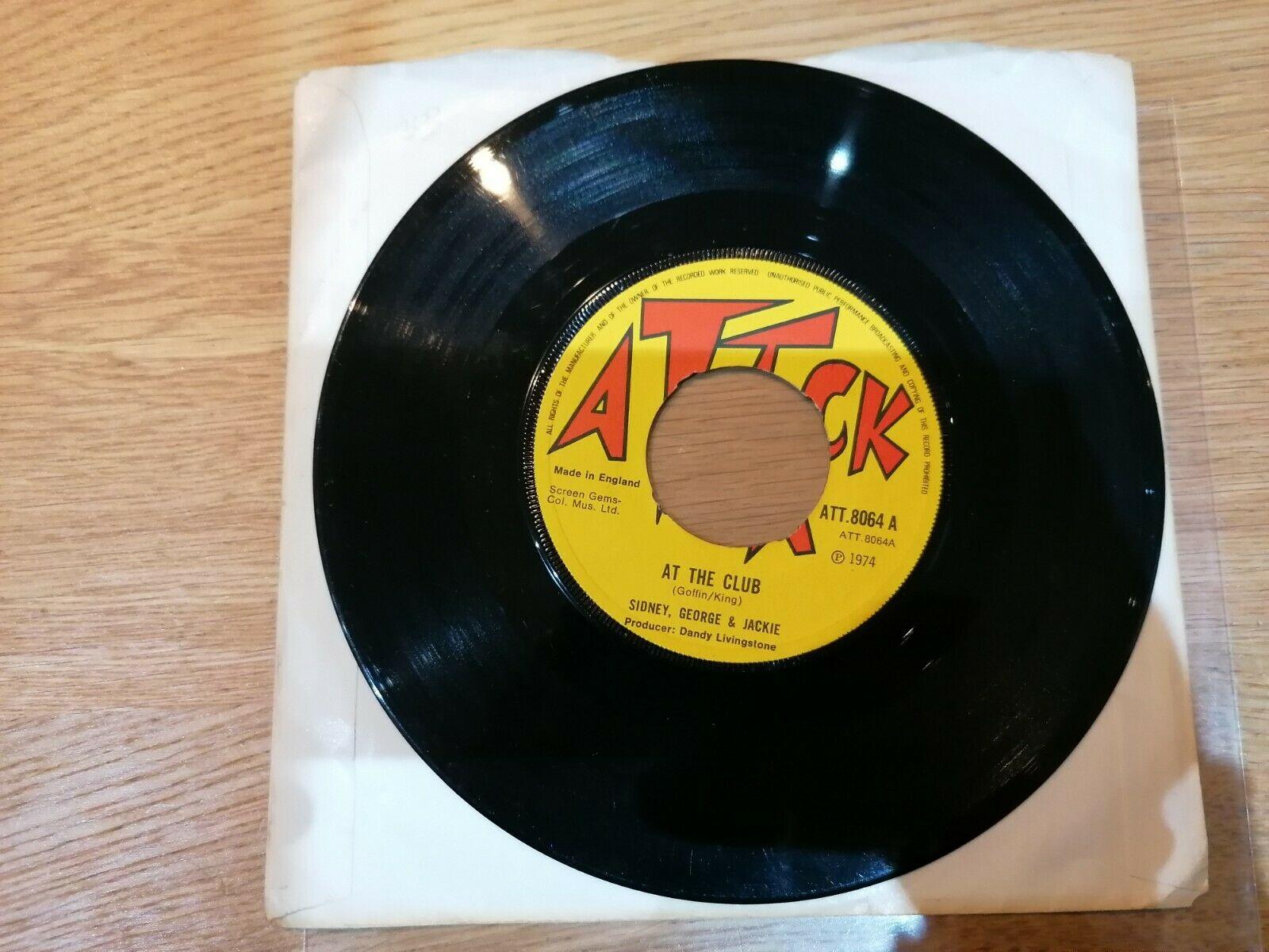 """Pioneers Sidney George & Jackie At the club Attack Reggae 7"""" vinyl record"""