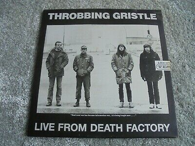 Throbbing Gristle - Live At Death Factory 1990 TESCO LP METAL SLEEVE COMPLETE