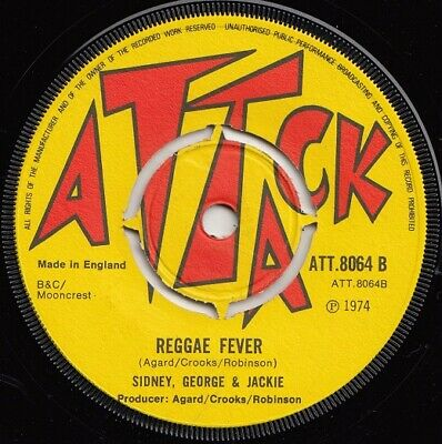 SIDNEY GEORGE & JACKIE  REGGAE FEVER  HIGHLY SOUGHT AFTER BOSS REGGAE CLASSIC