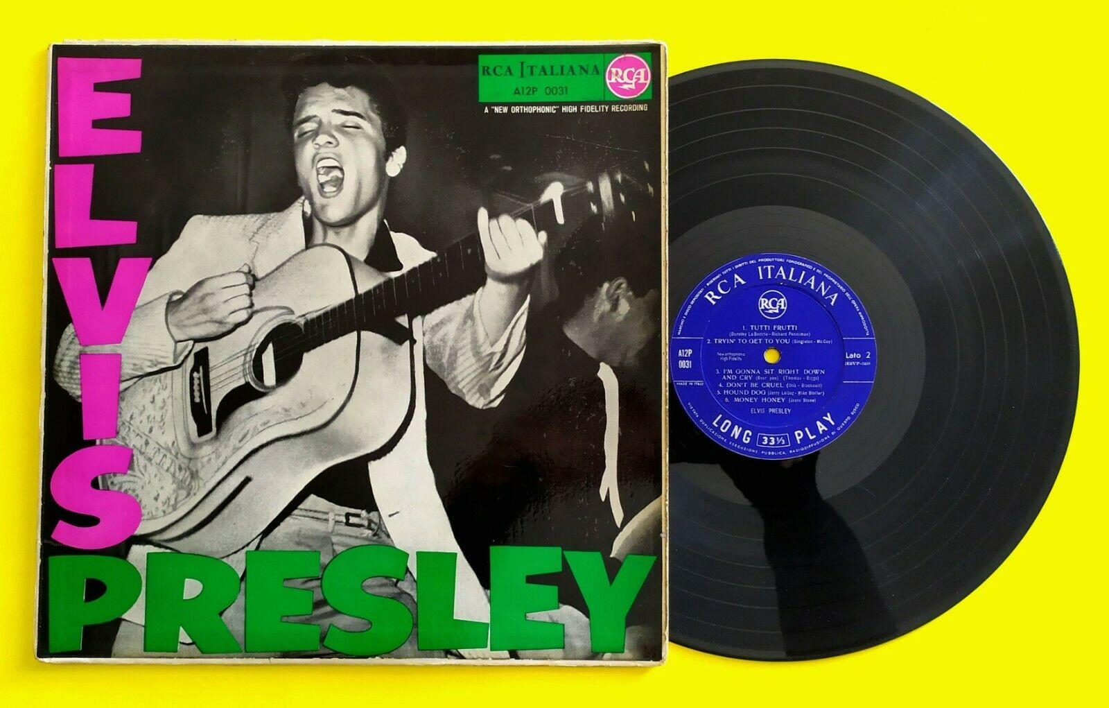 "ELVIS PRESLEY (33 RPM - ITALY) A12P 0031 ""ELVIS PRESLEY"" (MEGA-RARE BLUE LABEL)"