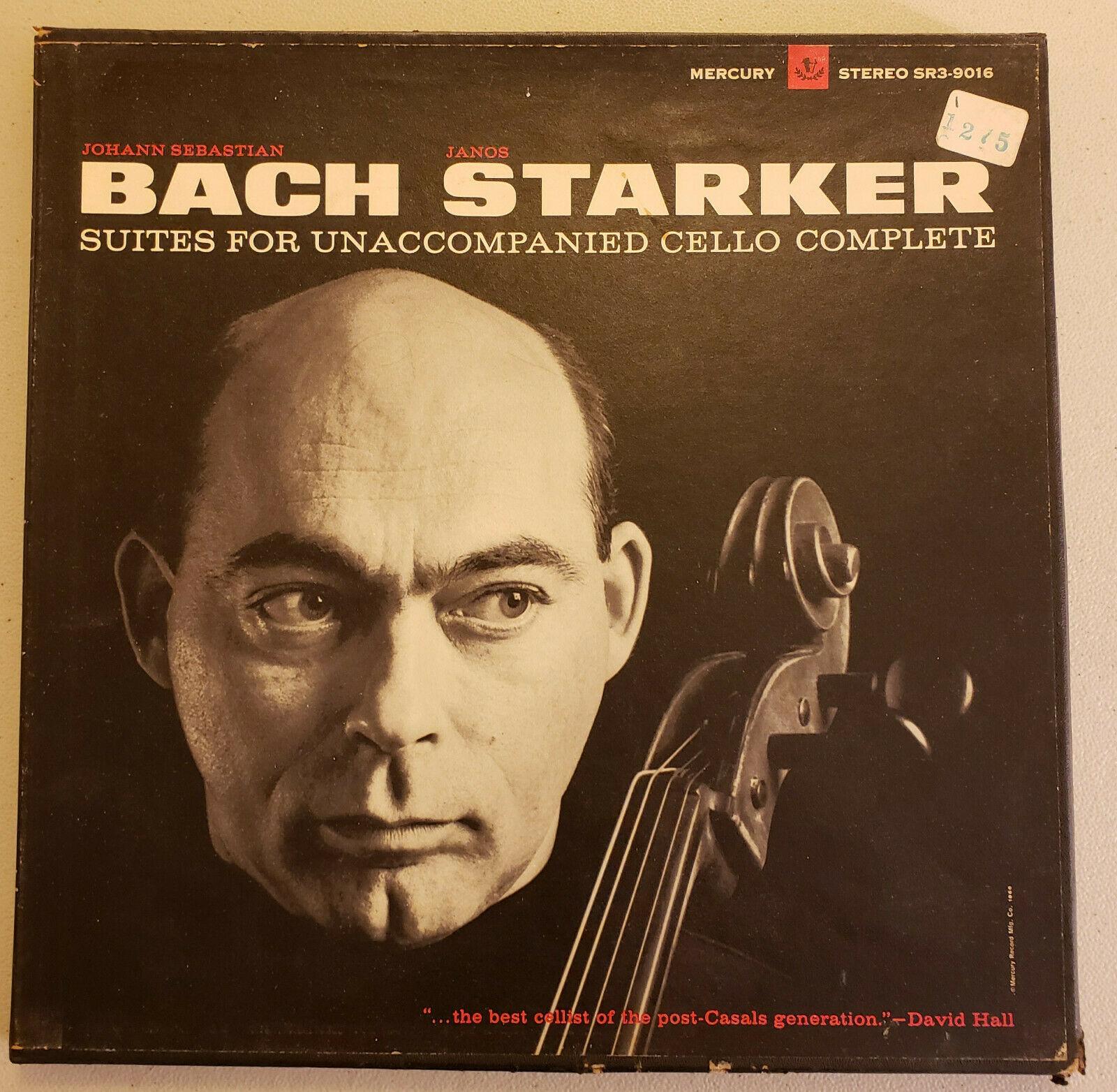 JANOS STARKER JS Bach Suites For Unaccompanied Cello Mercury SR3-9016 gold promo