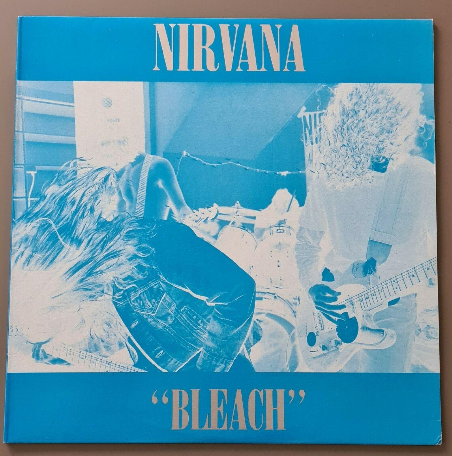 Nirvana - Bleach  Waterfront Records – DAMP 114  Blue Vinyl, Blue / Silver Sleev