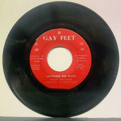 """Johnny & The Attractions """"Coming On The Scene"""" / """"Anything You Want"""" Gay Feet 7"""""""