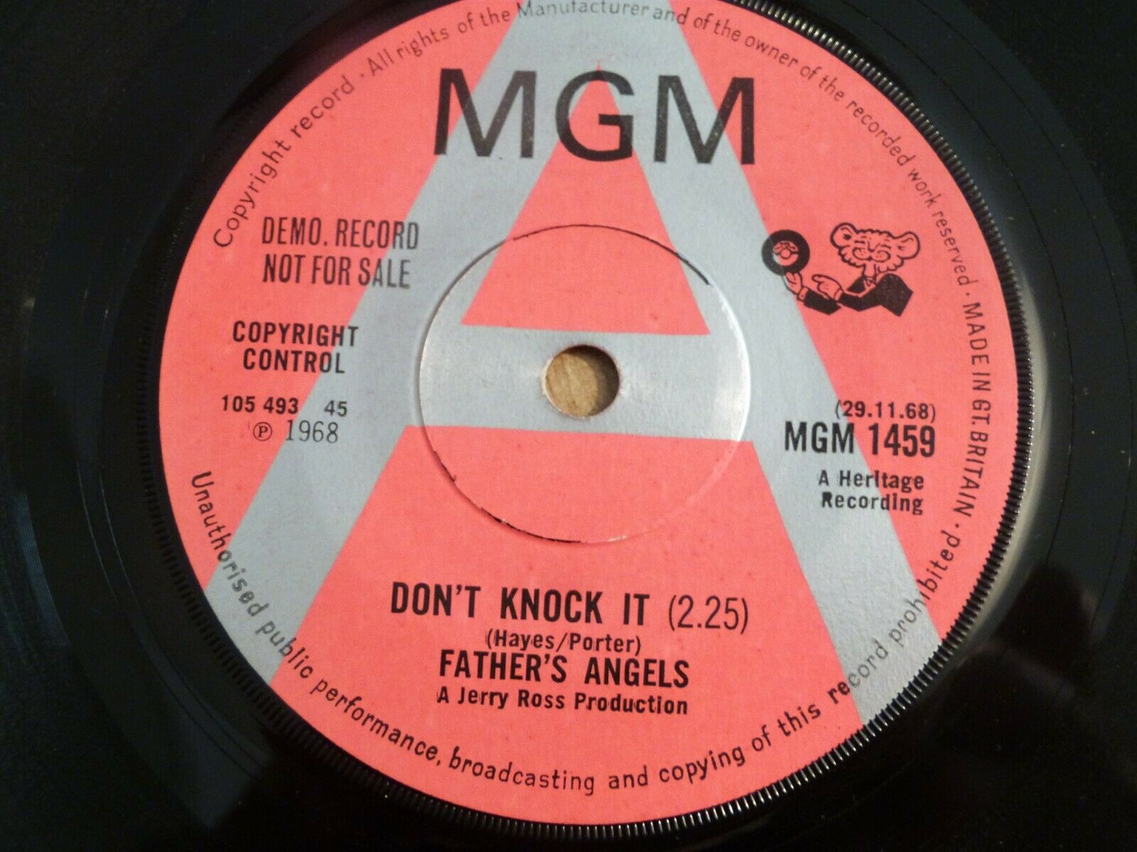 FATHER'S ANGELS - DON'T KNOCK IT / BOK TO BACH - UK DEMO - VERY GOOD++