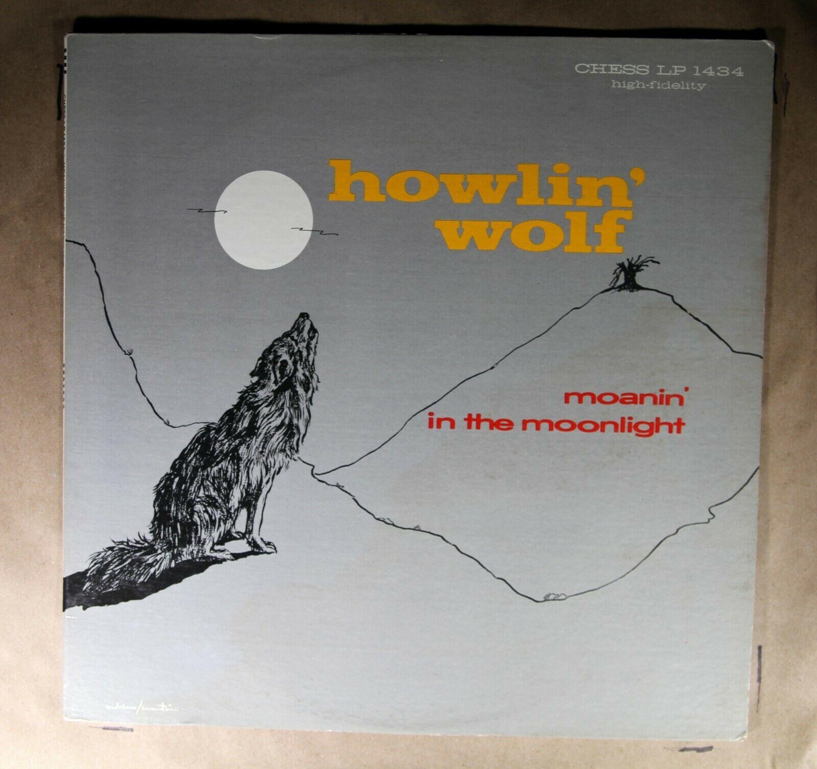 "1 PRESS  Howlin' Wolf CHESS LP 14344 MONO ""Moanin' In The Moonlight""  LP"