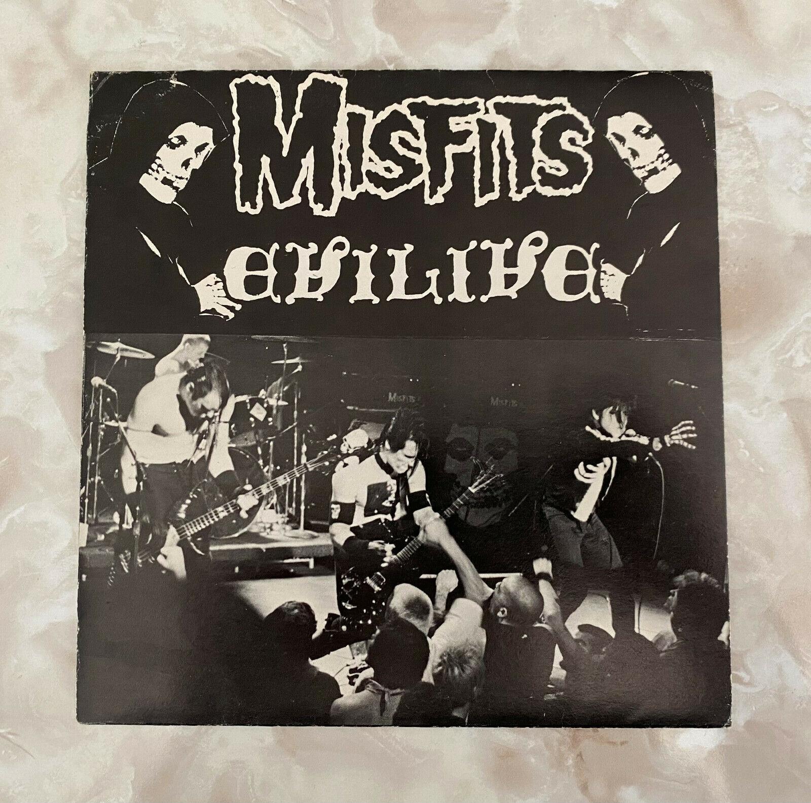 "Misfits Evilive 7"" EP 1982 Original Press Fiend Club Edition #61"